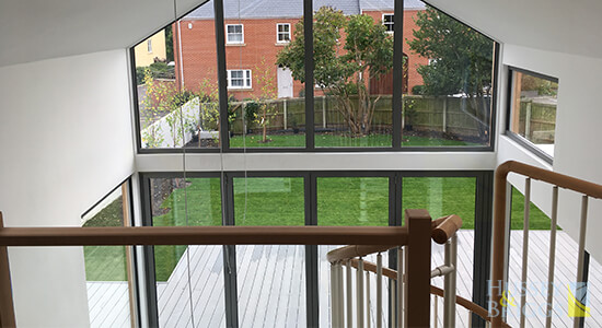 glass balustrade modern extension