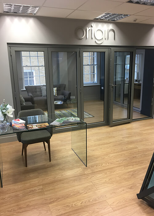 Origin 6 pane bi-folding doors