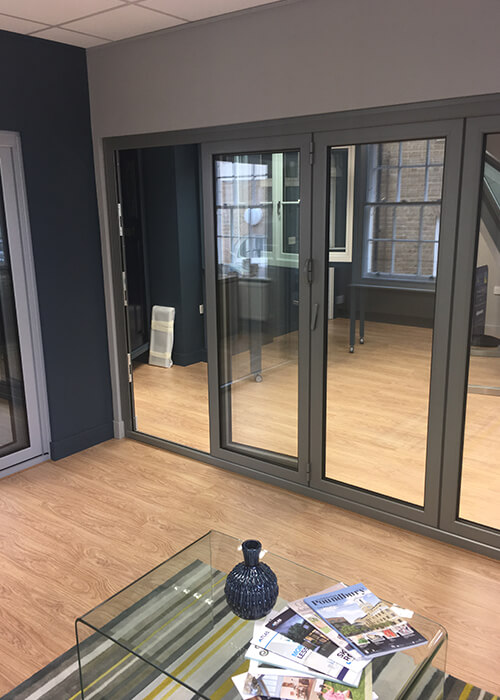 Origin bi-fold doors inside